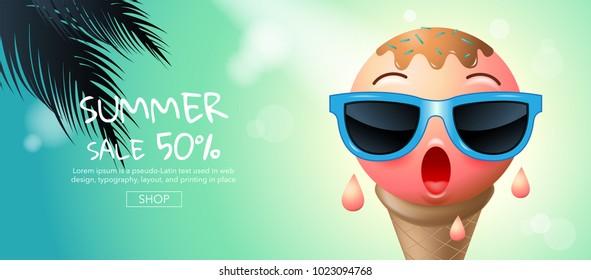 summer , sale , template design, vector illustration