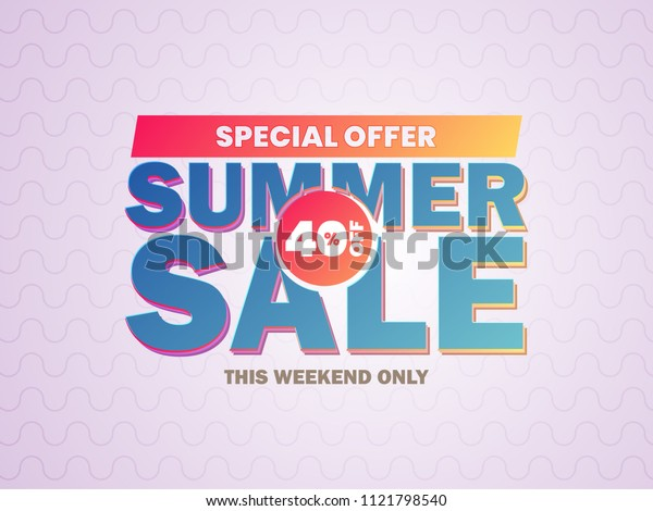Summer Sale Vector Banner Design Background For Banner, Flyer, Poster, Brochure.