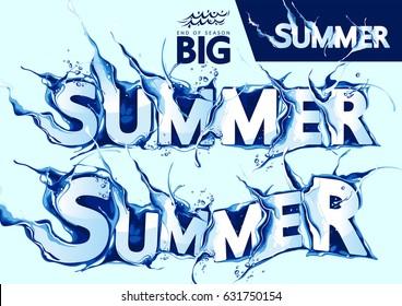 Summer Sale Water Wave Vector Set