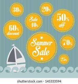 summer sales vector