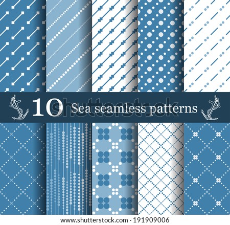 summer seamless pattern set can be used for wallpaper, website background, textile printing