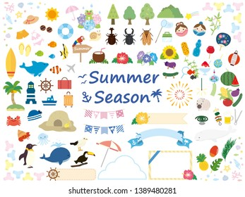 It is a summer set illustration.