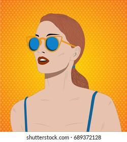 Summer sexy girl, Cartoon woman, Hot girl, Cool woman, Summer cartoon, Summer illustration