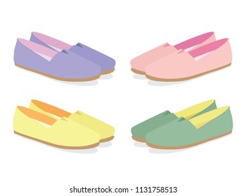 Summer Shoes, Espadrilles, Shoes for Women, Pastel Colors.