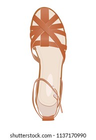 Summer Shoes for Women. Light shoes, summer, vacation, fashion, shoe, elegance, style concept, illustration.