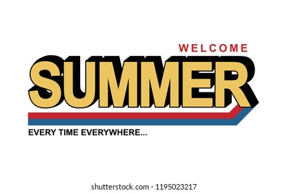 summer slogan for T-shirt printing design and various jobs, typography,  vector.