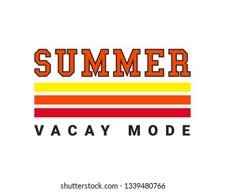 SUMMER , slogan, t-shirt vector design