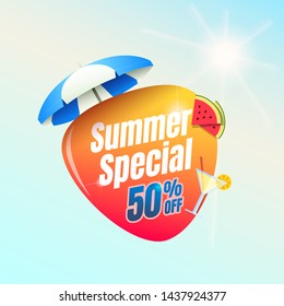 Summer Special 50% Off Shopping Label
