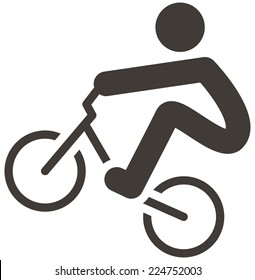 Summer sports icons -  cycling BMX icon