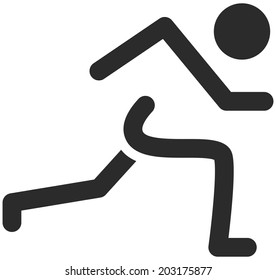 Summer sports icons - running icon