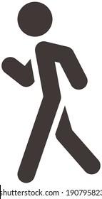 Summer sports icons set - heel-and-toe walk