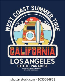 summer style tee print vector design