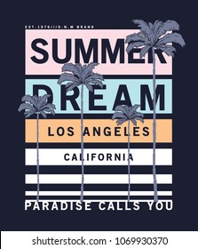 summer style vector design for tee print