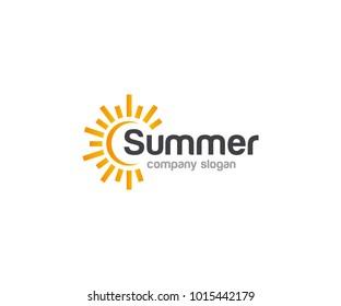 Summer Sun Logo Template