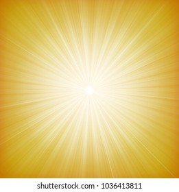 Summer Sun Starburst Background/ Illustration of a design and flashy summer yellow star burst background, with thin sun and light beams
