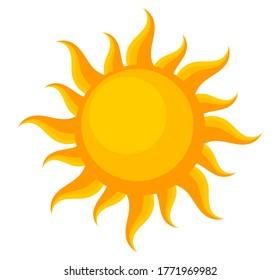 Summer sun symbol, design element. Vector illustration.