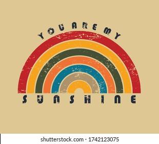 summer sunshine color slogan print