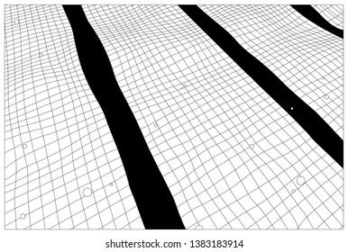 Summer swimming pool ripple background, minimal black and white manga / anime line art style, lazy sunday nostalgic feeling