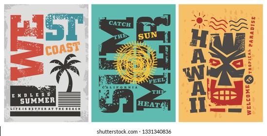 fab026555c1 Summer t shirt graphic designs. West coast