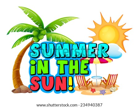 summer template on white background stock vector royalty free
