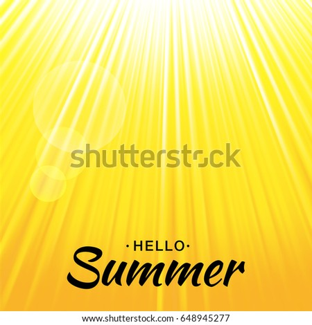summer template vector yellow glow background stock vector royalty