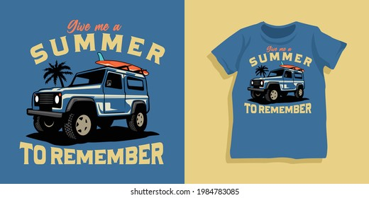 Summer themed collection t-shirt design