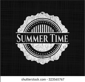 Summer Time with chalkboard texture