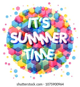 It's summer time colorful vector design