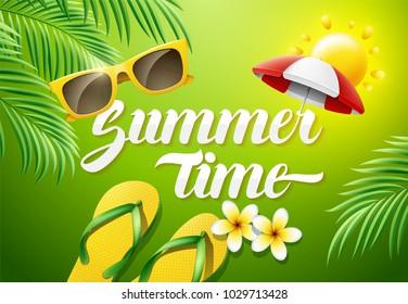 Summer Time Concept illustration