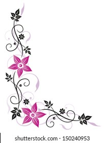 Summer time decoration, pink flowers with black leaves.
