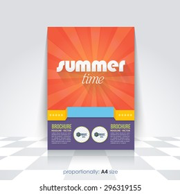 Summer Time Flyer, Brochure Design Template