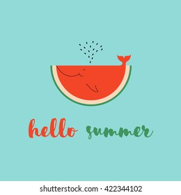 Summer Time Greeting Cards Template Watermelon Stock Vector Royalty