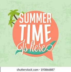 Summer Time Is Here Calligraphic Designs in Vintage Style