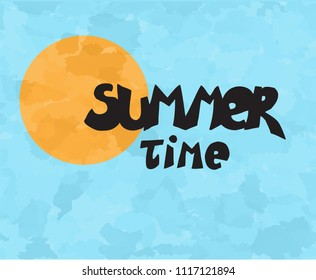 Summer time vector sun illustraction
