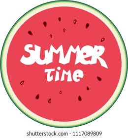 Summer time vector watermelon illustraction