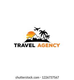 summer travel logo icon vector template