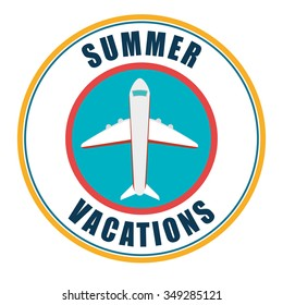 Summer, travel and vacation graphic design, vector illustration eps10