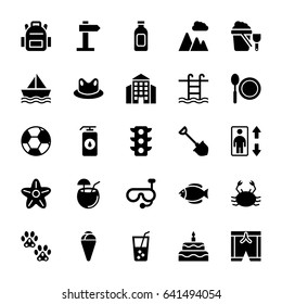 Summer and Travel Vector Icons 9