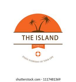 summer travel vintange badge design