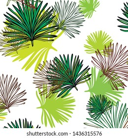 Summer tropical vector design for banner or flyer with exotic leaves.