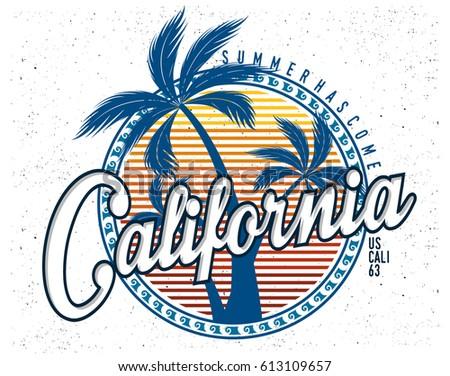 5a978c73b589 Summer Tshirt Graphic Stock Vector (Royalty Free) 613109657 ...