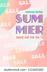 Summer typography vector illustration