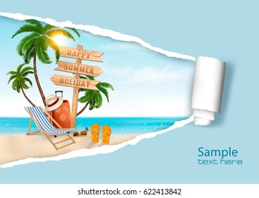 Summer vacation background. Vector.