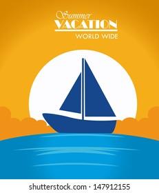 summer vacations design over sunny background vector illustration
