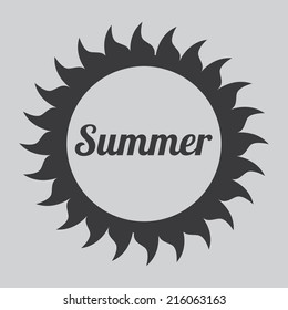 summer vacations over gray background vector illustration