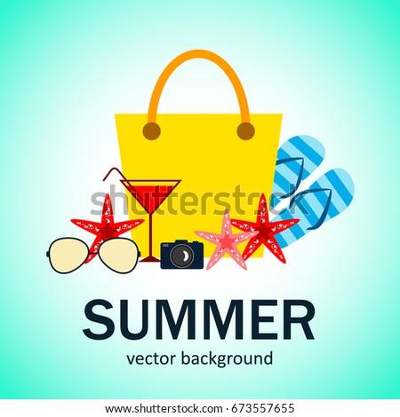 9968ea71c964 Summer Vector Banner Design Concept Summer Stock Vector (Royalty ...
