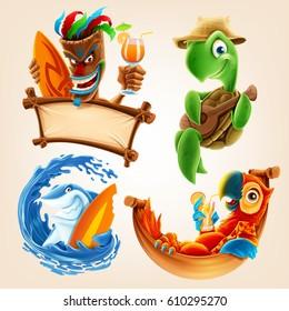 summer vector cartoon