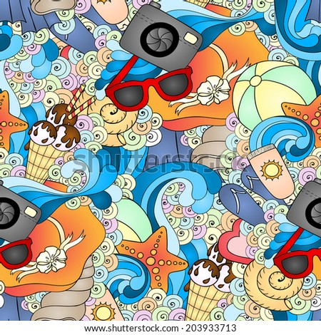1b1049295d0f0a Summer Vector Seamless Background Design Template Stock Vector ...