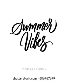 Summer vibes. Stationary card template for your design. Hand drawn artistic background.