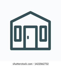 Summerhouse isolated icon, garden house linear vector icon